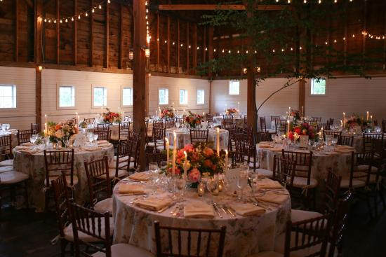 New Marlborough, MA: Barn set up for wedding reception