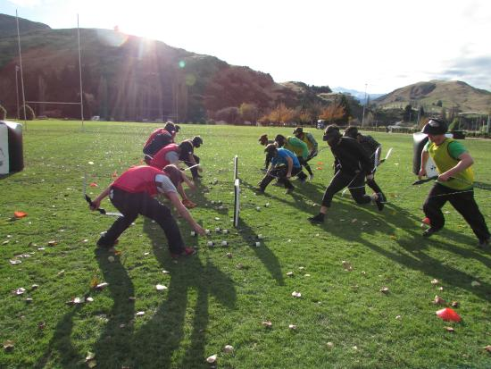 Action shot of Archery Tag at The Playground, Queenstown