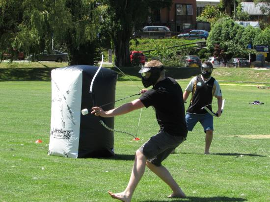 Archery Tag target at The Playground Queenstown