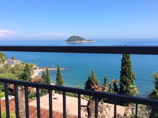 Monti e Mare Apartments: Udsigt fra vores balkon