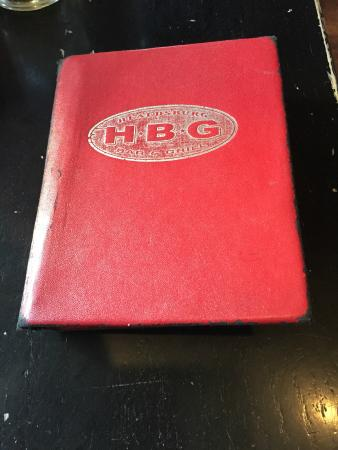 Healdsburg Bar & Grill: Their Bill Presentation Folder