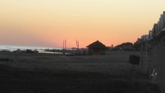 Balneario Samoa: Puesta de sol