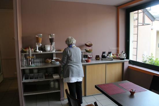 Le Chene Vert : Le buffet du petit déjeûner