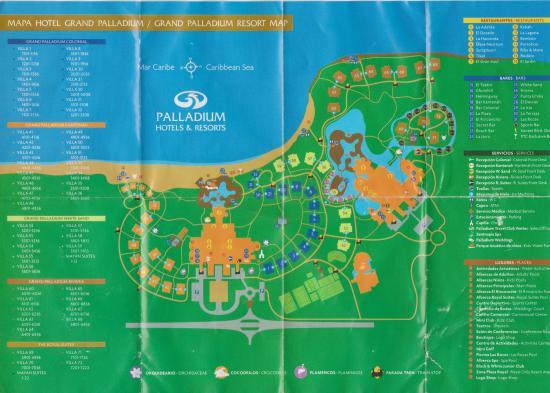 Resort Map - Picture of Grand Palladium Kantenah Resort & Spa ...
