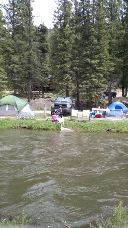 River Ranch: Camping next to Red River