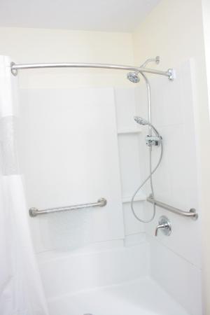 The Bedford Inn: Large, renovated handicap shower.