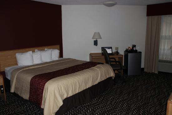 Red Roof Inn Jamestown - Falconer: King size bed with wifi work area