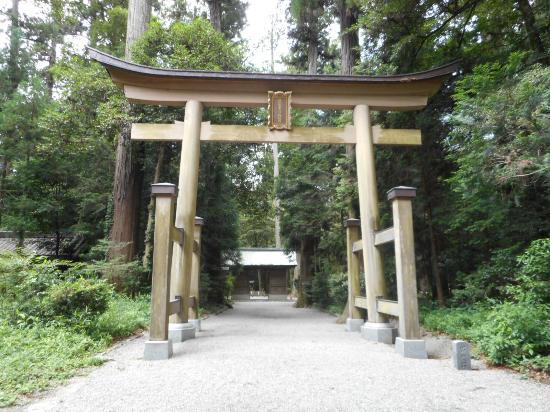 Harimakuni Ichinomiya Iwa Shrine : 杉に囲まれて伊和神社