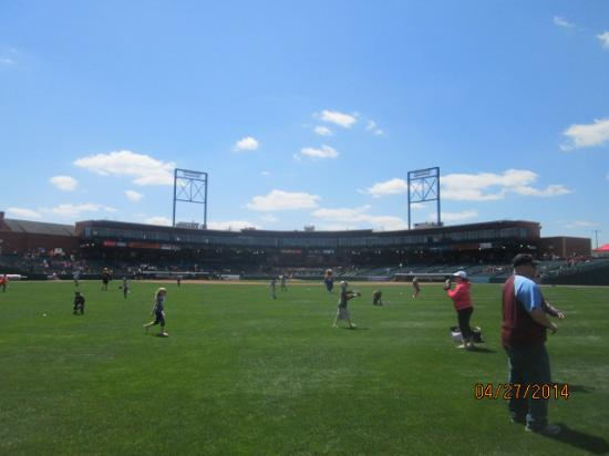 PeoplesBank Park: out field view