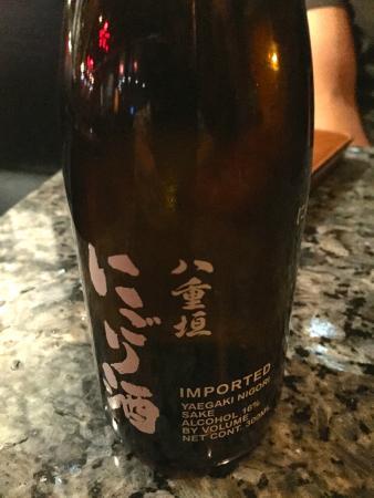 Yo Sake Downtown Sushi Lounge: Yo! Cold Unfiltered Sake at Yo Sake.