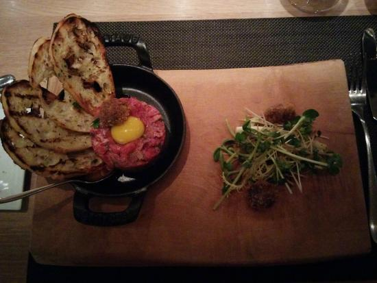 Bymark: Steak tartare and bone marrow
