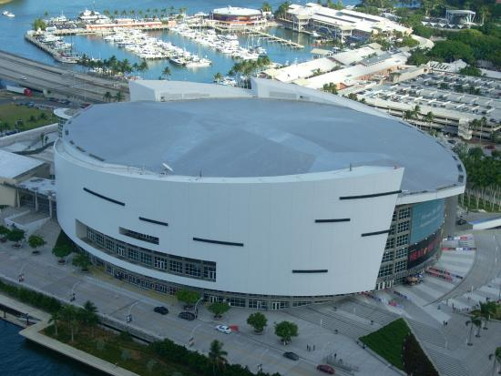 aerial view - picture of american airlines arena, miami