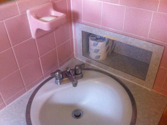 Rodeway Inn : unique soap holder and bath sink
