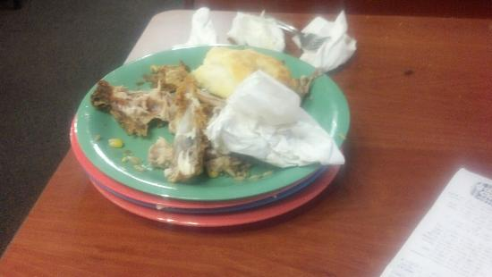 Sheridan, CO: After 45 minutes, we still had not seen a waitress to take our plates. I had to refill our own d