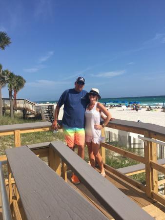Princess Condo Rentals : Walkway to beach from condo