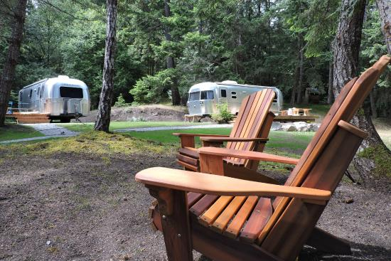 WOODS on Pender: Airstream Safari Compound