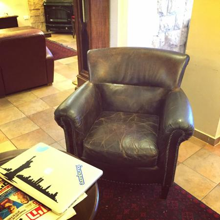 Villa Galilee: A chair in the lobby