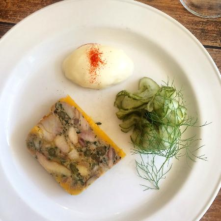 Old Spot: Potted mackerel with pickled cucmber