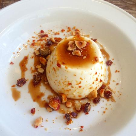 Old Spot: Pannacotta with coffee and praline