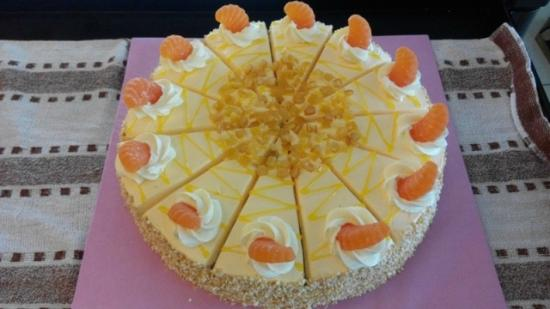 Likas Square Apartment Hotel: Orange cake