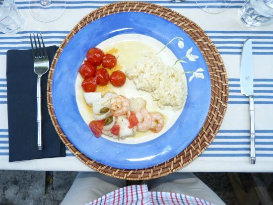 Lagarde-Paréol, France : Leckeres Essen von Rob gekocht