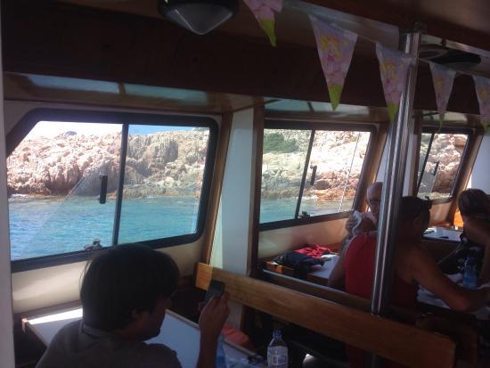Navetta Sea Star : L'interno della motonave, piano terra.