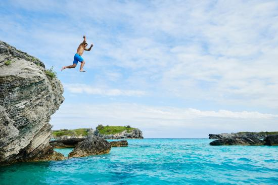 Cliff Jumping at Castle Island- St. George's