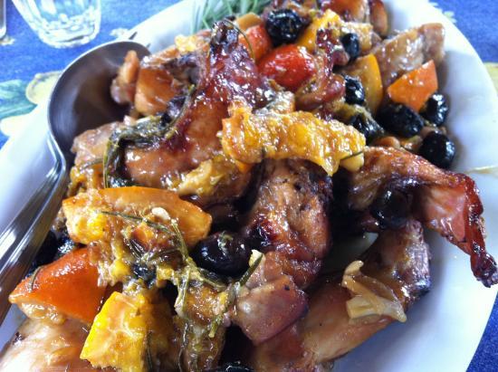 Ecco La Cucina: roasted rabbit with oranges & black olives