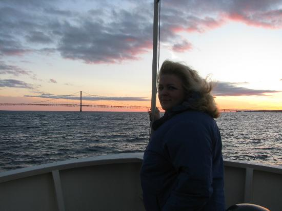 """Star Line Mackinac Island Ferry: I'm the """"queen of the world!""""  lol"""