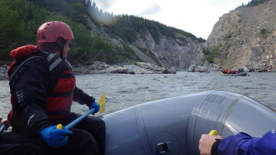 Denali Raft Adventures: A moment of calm before the upcoming rapids.