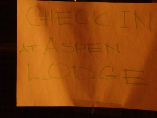 Checkin at Aspen Lodge