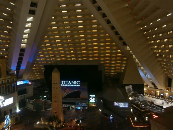 Inside The Pyramid Picture Of Luxor Hotel Casino Las Vegas