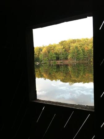 Huntsville, AL: looking out the window in the bridge
