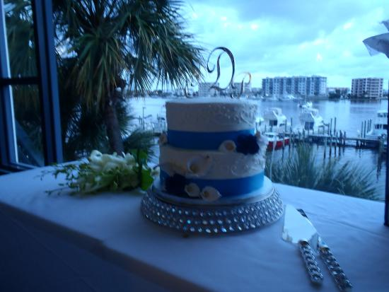 Marina Cafe Beautiful Setting For My Wedding Cake Overlooking Harbor