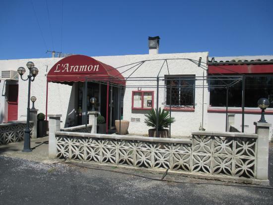 L'Aramon Gourmand : l'entrée du restaurant