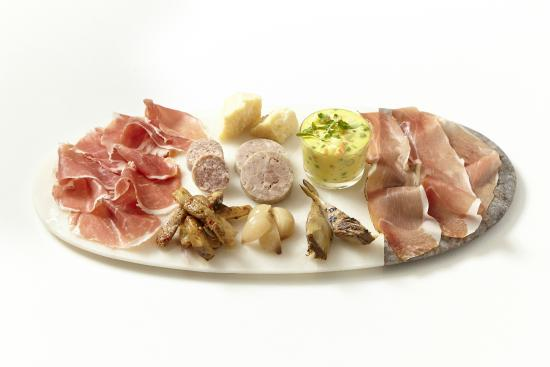 Merlo on Maple: Prosciutto di Parma, Speck Tirolese, Cotechino, homemade dry salsiccia, house-cured in Extra Vir
