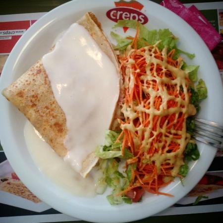 Combo Crepre grande + salada.