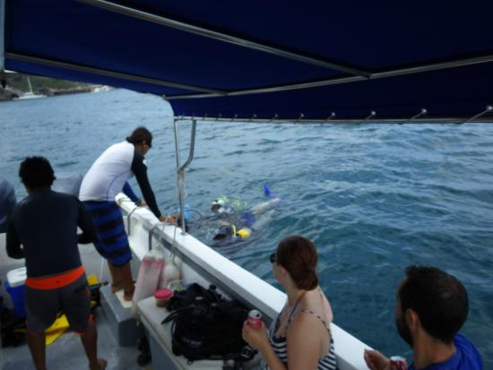 Silent World Divers: Surfacing after first dive
