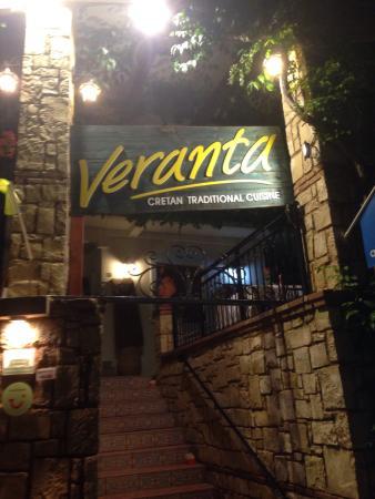 Veranta Restaurant: Great Food with a Cretan Atmosphere.