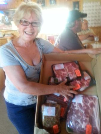 Merrifield, MN: June 23, 2015 Meat Raffle Tuesday Night.