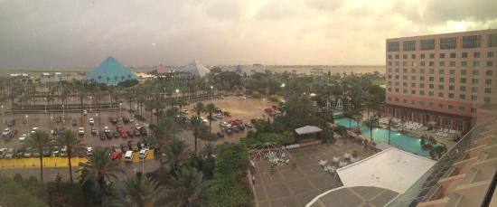 Pyramids At Sunset Picture Of Moody Gardens Hotel Spa Convention Center Galveston Tripadvisor
