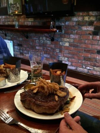 32 ounce sirloin cooked to perfection you only have to ask