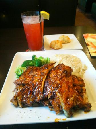 Ruby Tuesday: Best Rib's in Town, must try Cajun BBQ nice and tender. You must also try their Strawberry Lemon