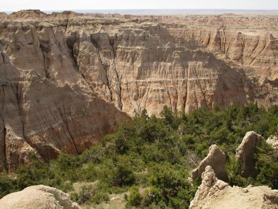 Parque Nacional Badlands, Dakota del Sur: Zoomed-in view of rock formations