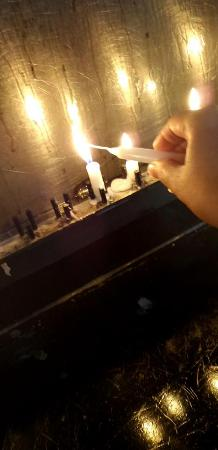 St. Francis Church: Lit my candle