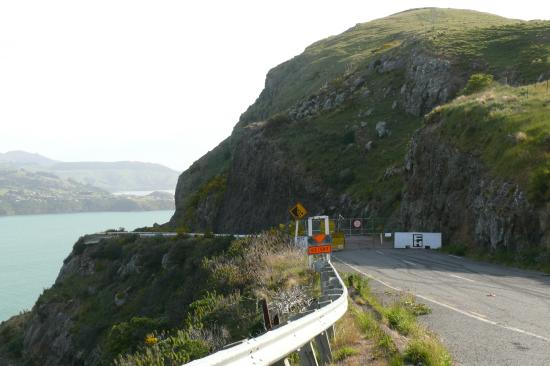 Closed roads near Lyttelton, this one was from Sumner.
