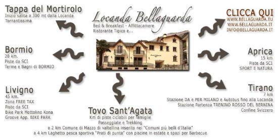Tovo di Sant'Agata, Italia: Locanda Bellaguarda TIRANO B&B