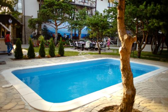 Alpen House: Бассейн на летней площадке