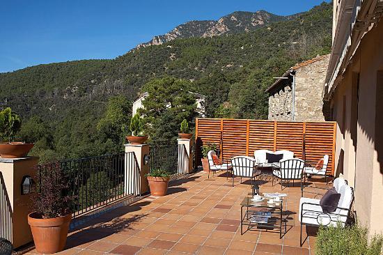 Terrassa Amb Vistes Picture Of Hotel Balneari Sant Vicenc Els Banys De Sant Vicenc Tripadvisor