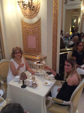 Palm Court: Tea at the Ritz in London.